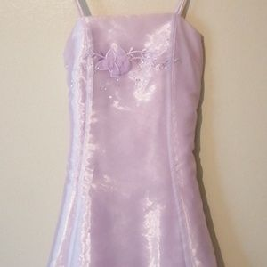 Formal Lovely Lilac Dress w/Scarf Size 11/12